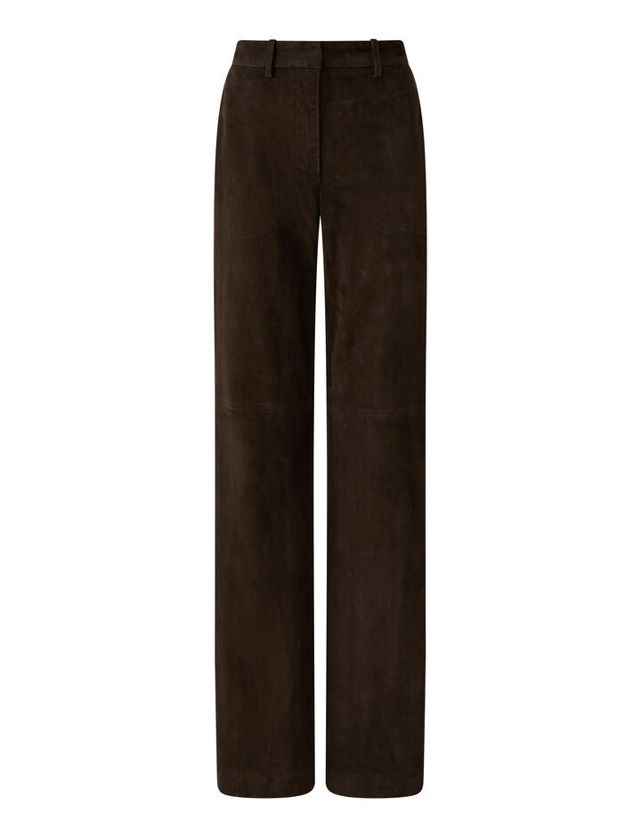 Joseph, Suede Leather Morissey Trousers, in JAVA