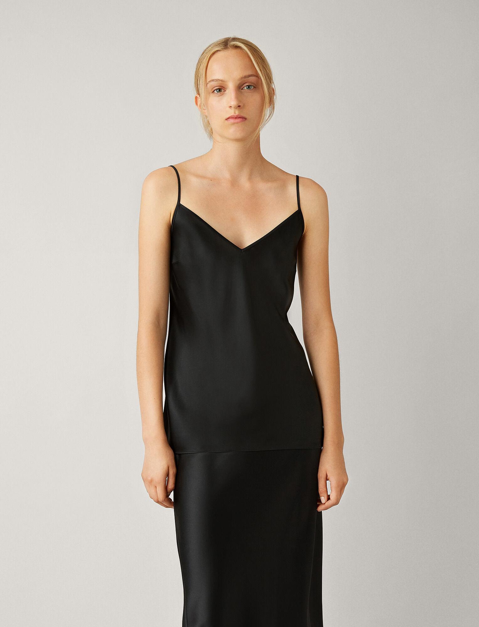 Joseph, Clea Silk Satin Blouse, in BLACK