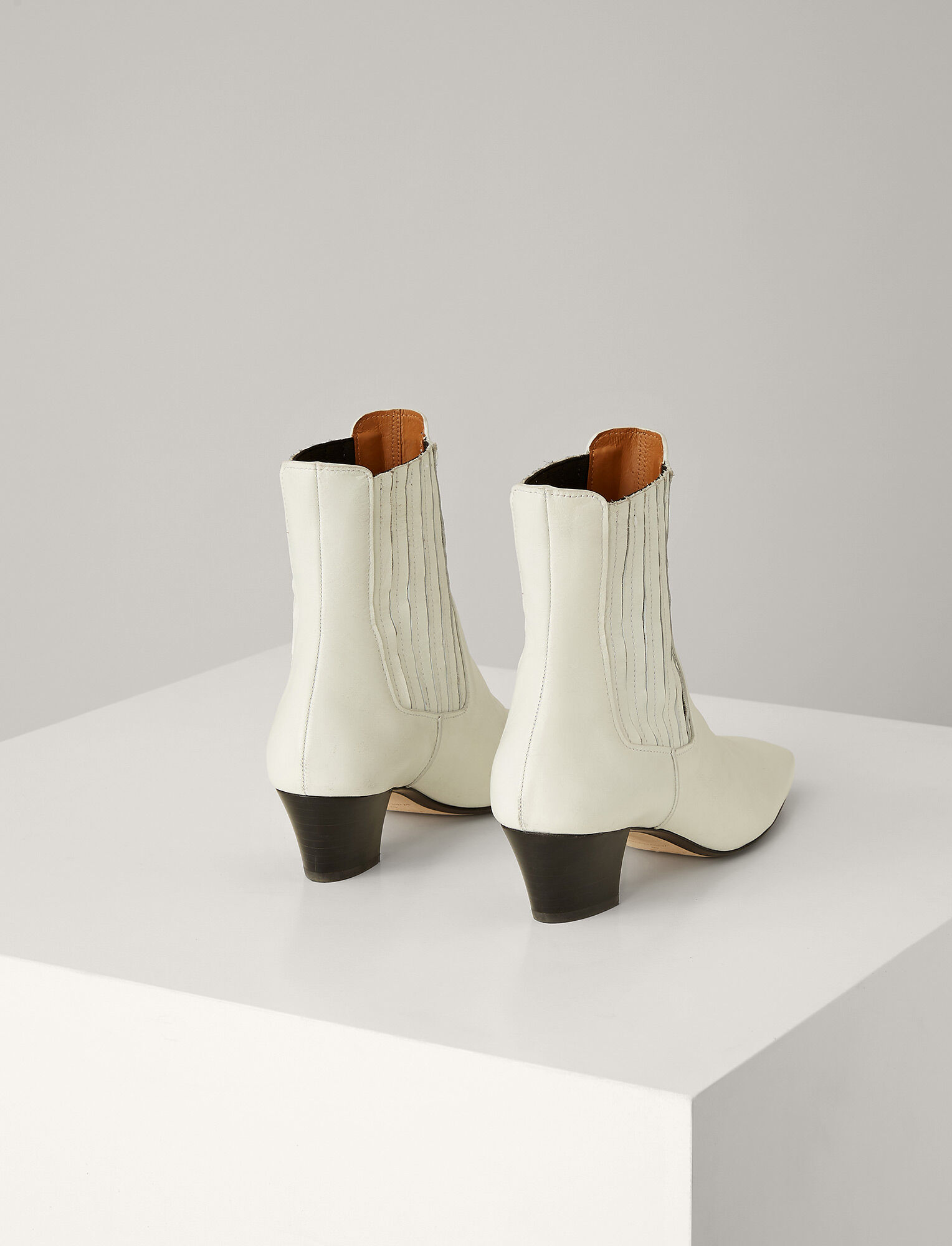 Joseph, Bettina Leather Boots, in WHITE