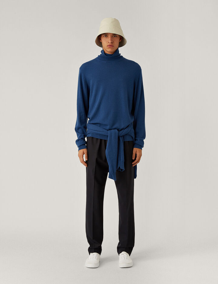 Joseph, Roll Neck Cashmere Knit Knitwear, in Blue