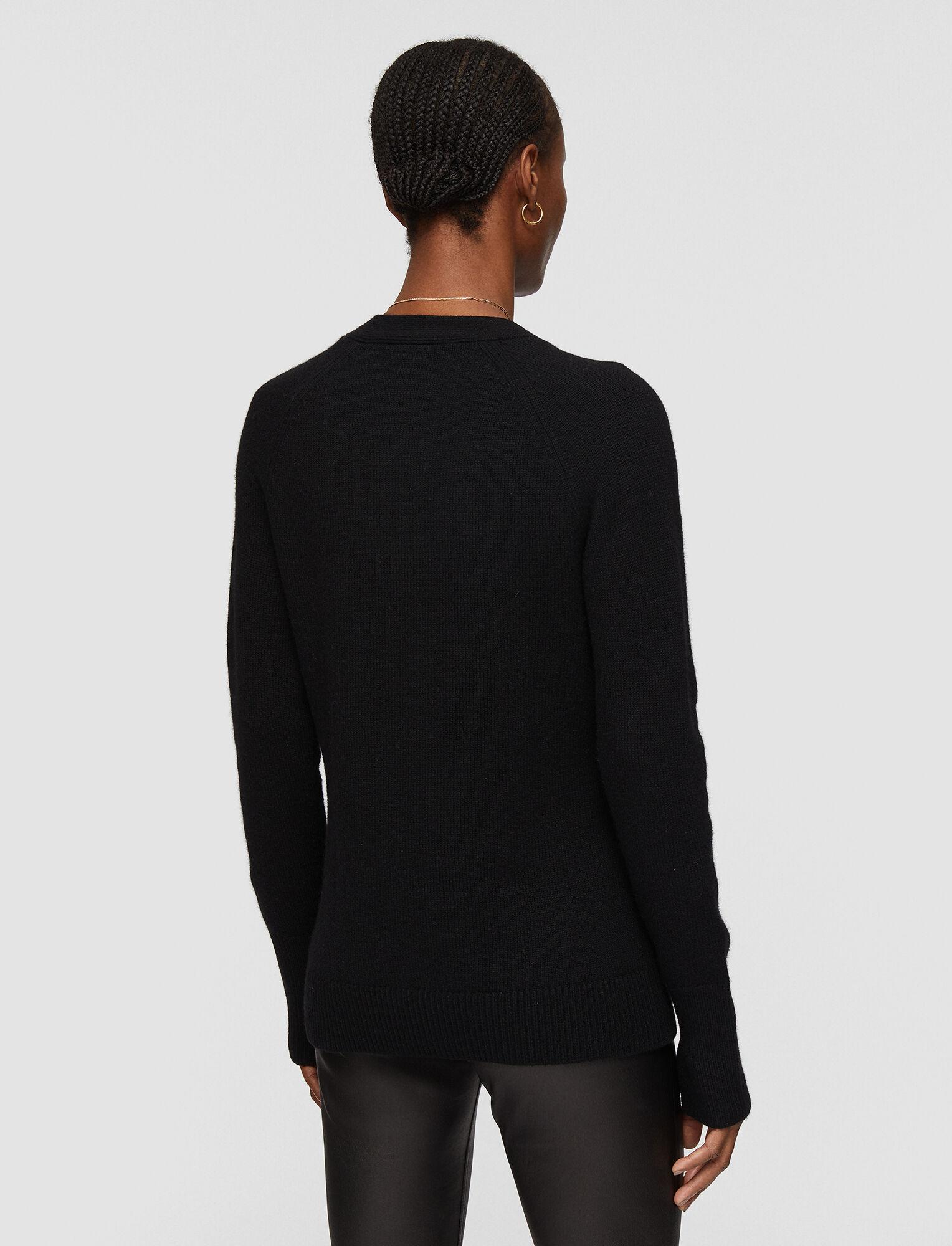 Joseph, Pure Cashmere Knit Cardigan, in Black