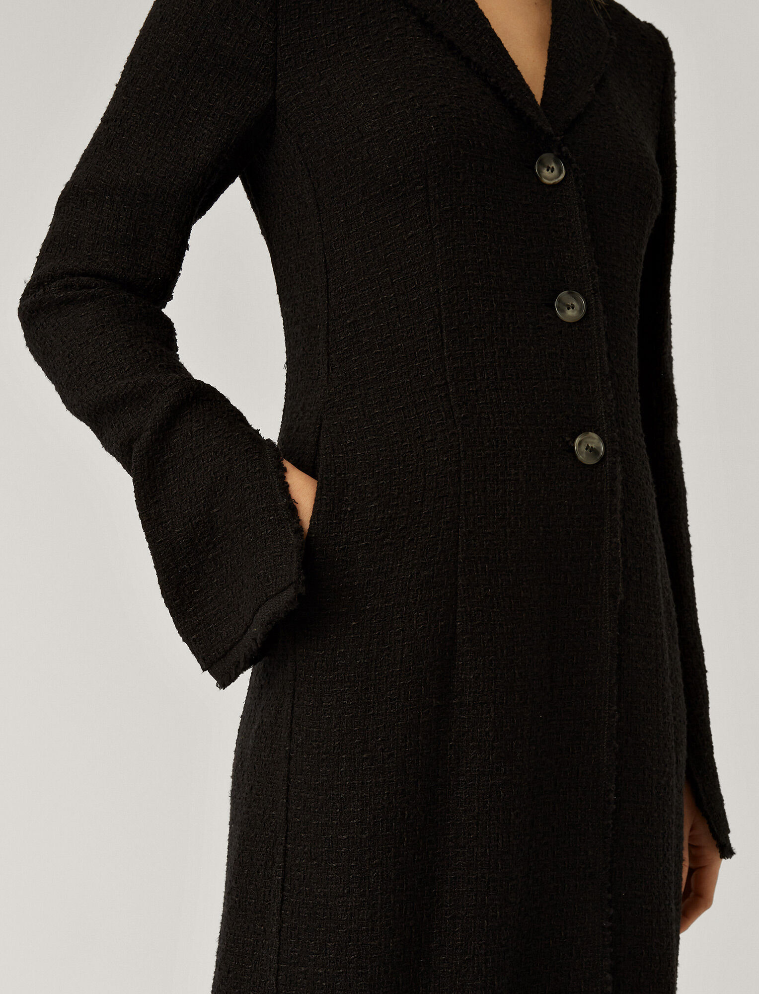 Joseph, Cierra Tweed Coat, in BLACK