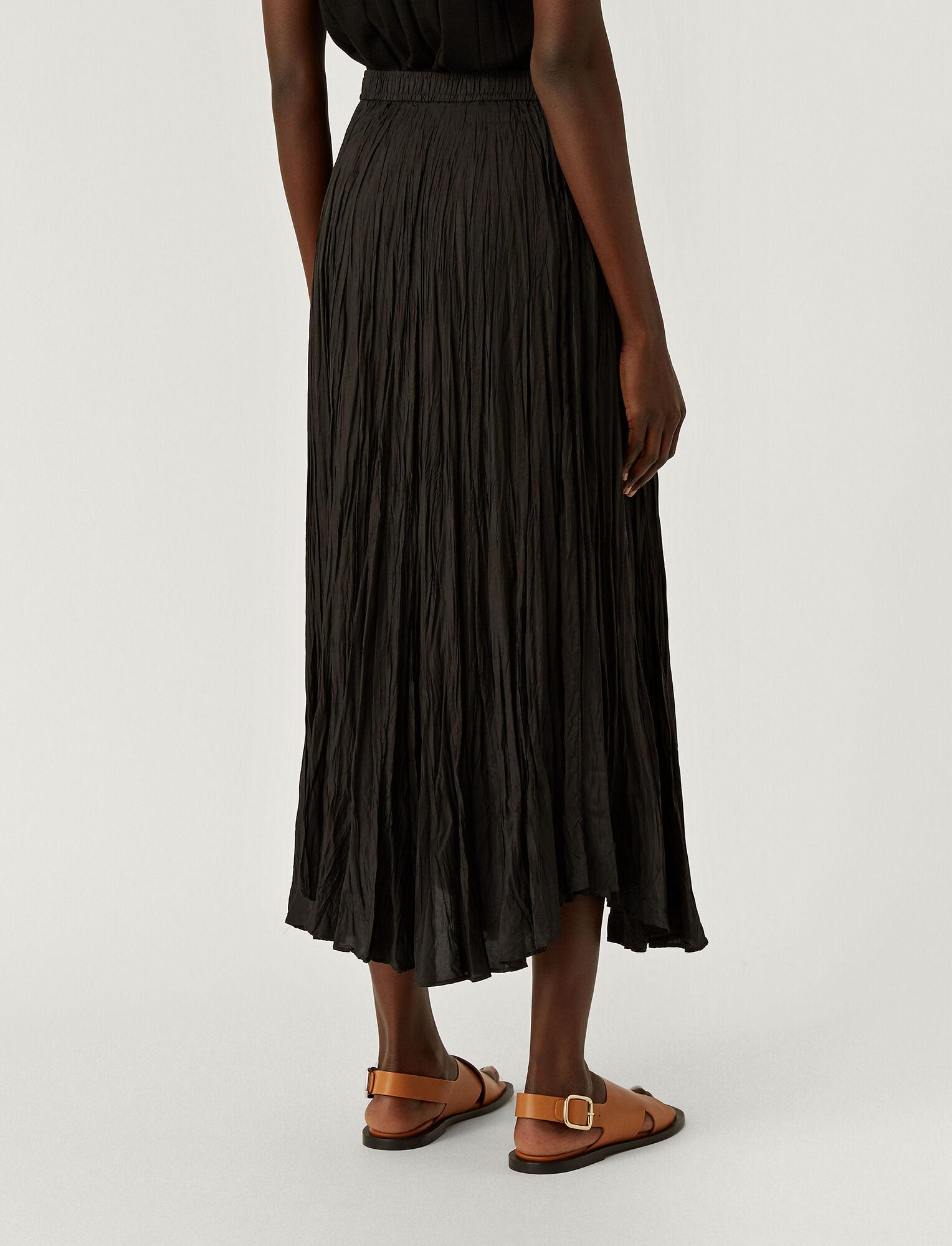 Joseph, Habotai Sully Skirt, in BLACK