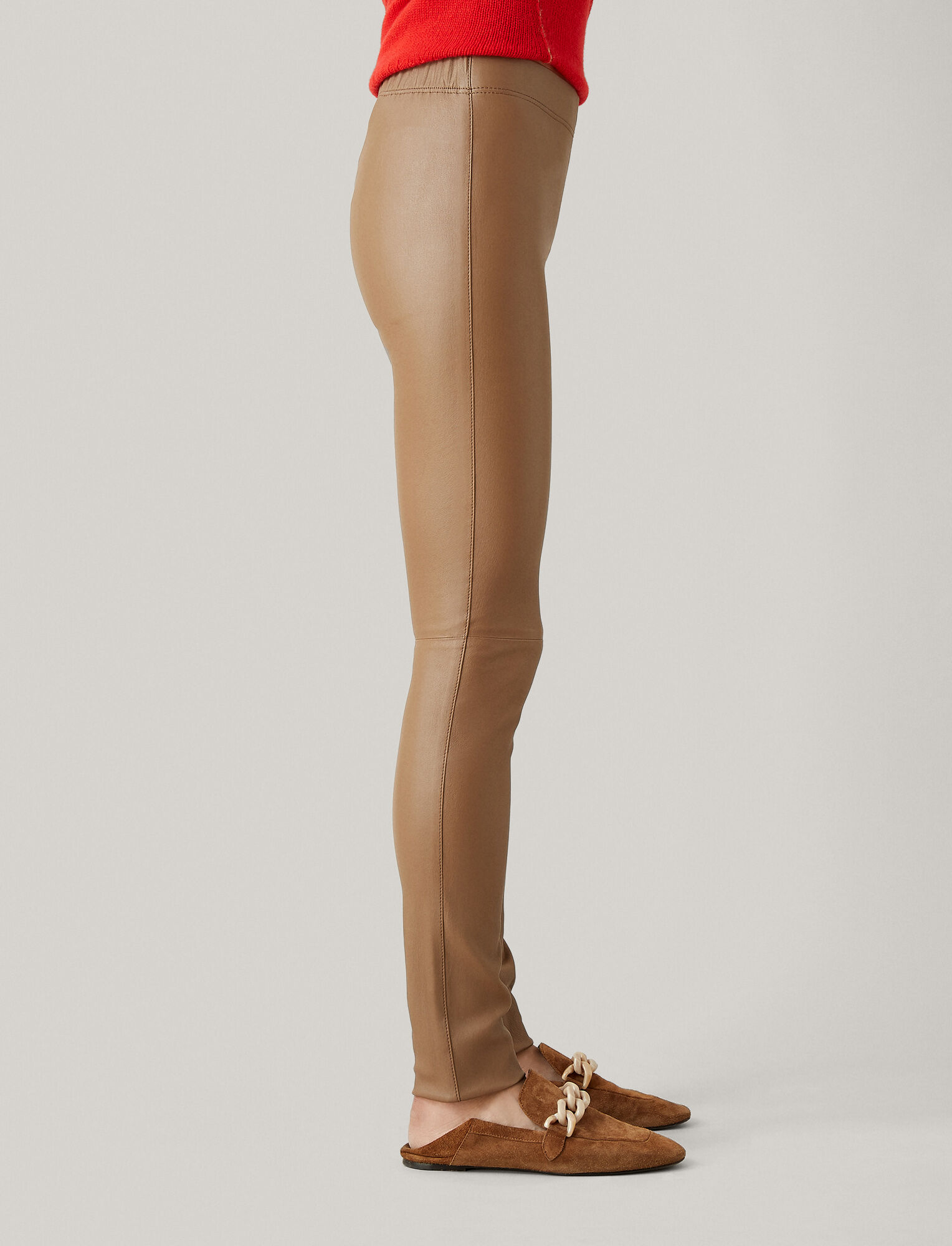 Joseph, Stretch Leather Legging, in TOBACCO