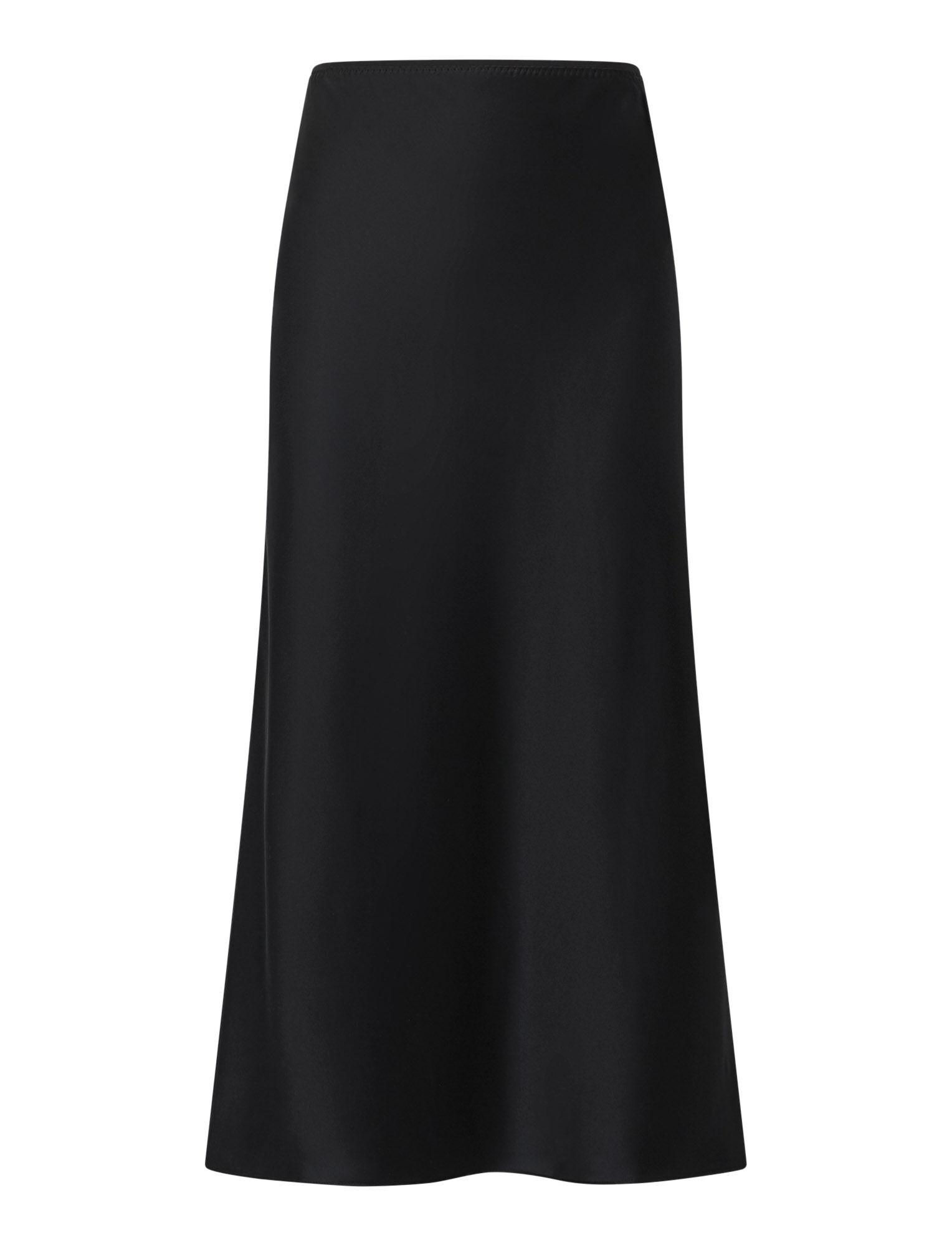 Joseph, Isaak Silk Satin Skirt, in BLACK