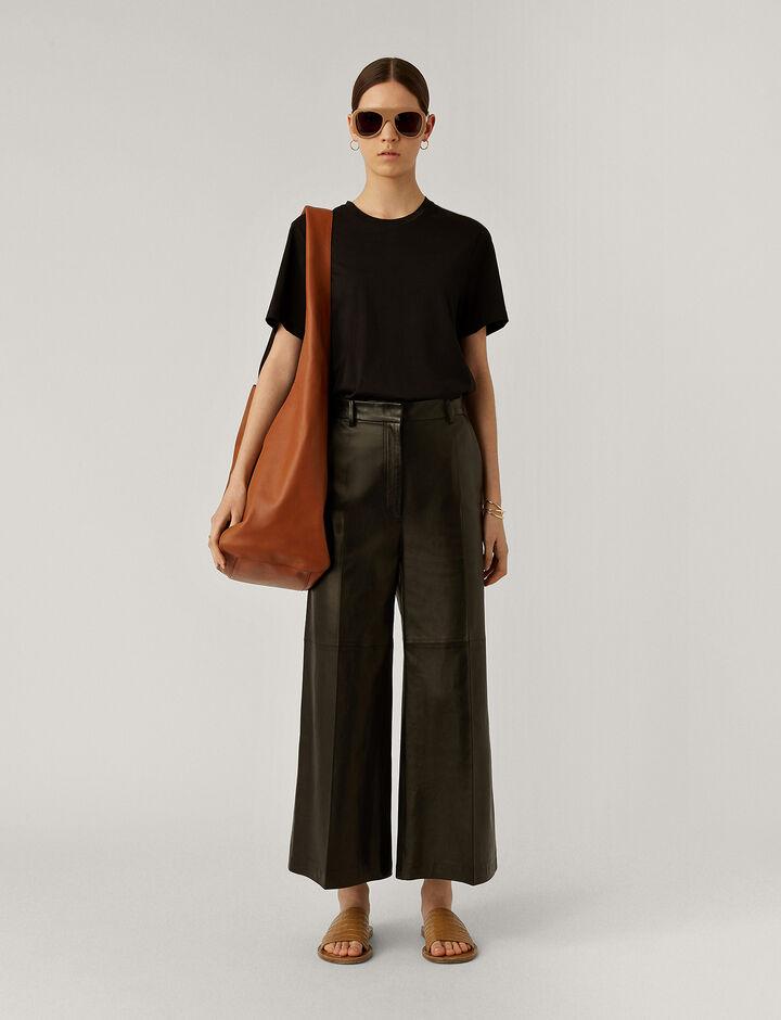 Joseph, Tuba Nappa Leather Trousers, in Black