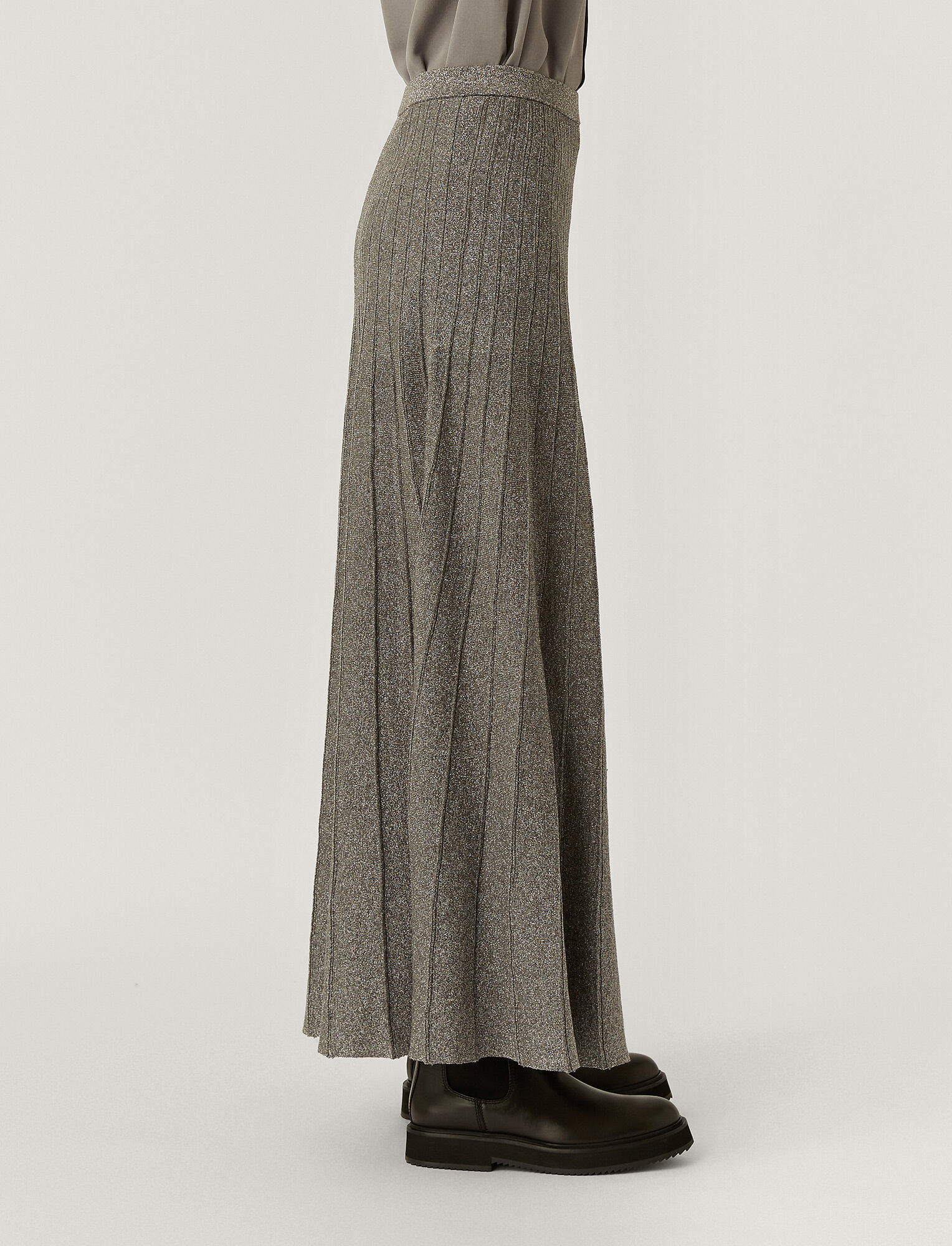 Joseph, Lurex Skirt, in ANTHRACITE