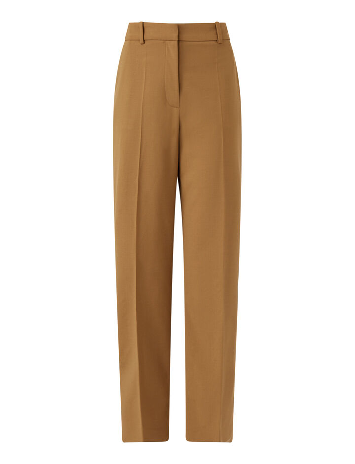 Joseph, Coleman Light Wool Suiting Trousers, in Saddle