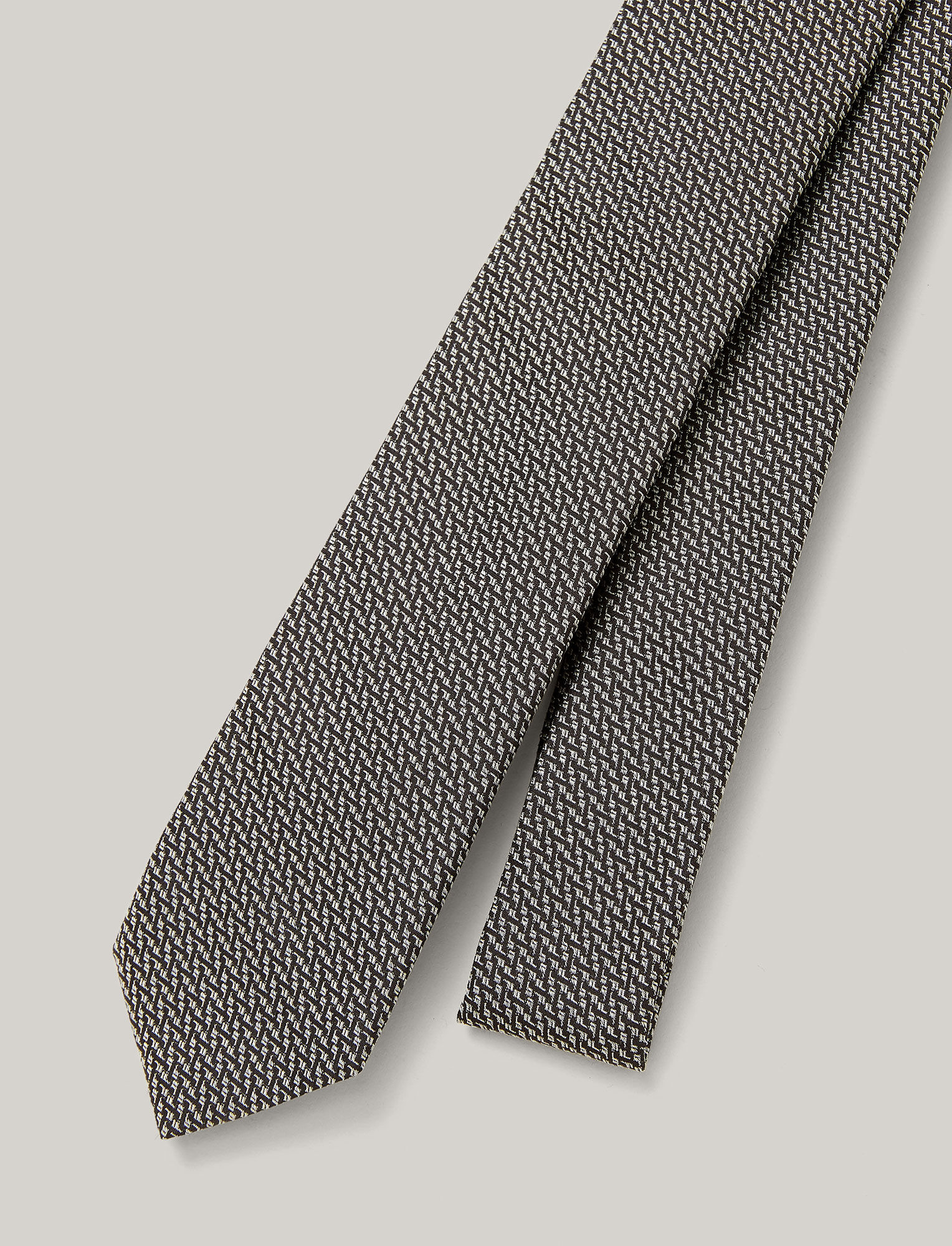 Joseph, Printed Silk Tie, in BLACK