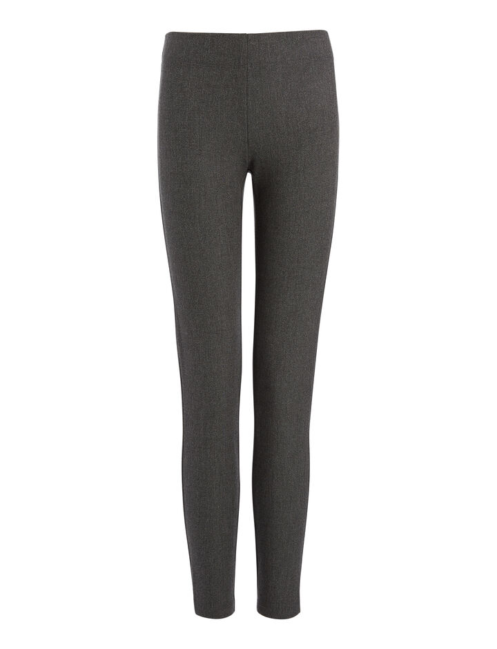 Joseph, Gabardine Stretch Chiné Leggings, in GRAPHITE