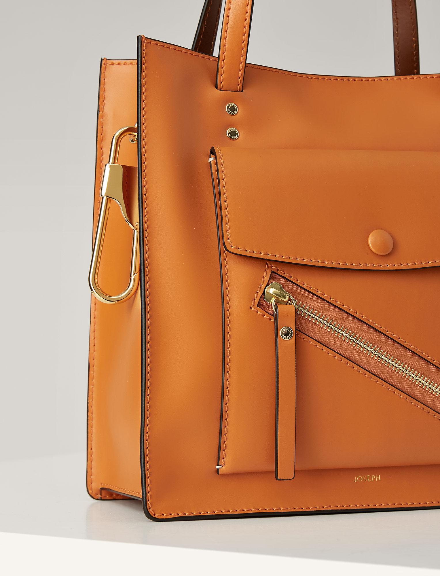 Joseph, Leather Portobello 25 Bag, in ORANGE