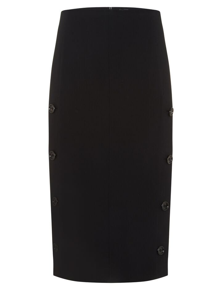 Joseph, Roland Viscose Cady Skirt, in BLACK