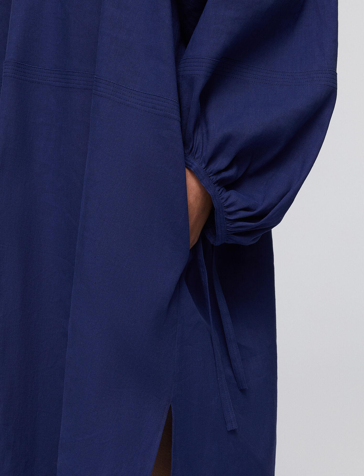 Joseph, Stretch Linen Cotton Duna Dress, in COBALT BLUE