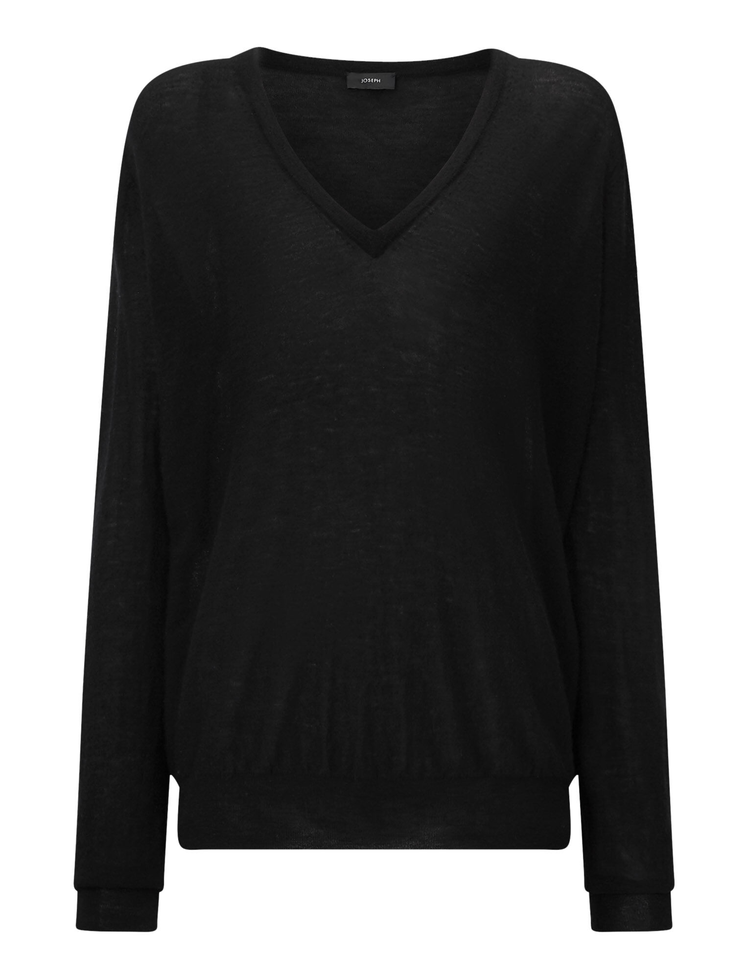 Joseph, Cashair V Neck Jumper, in BLACK