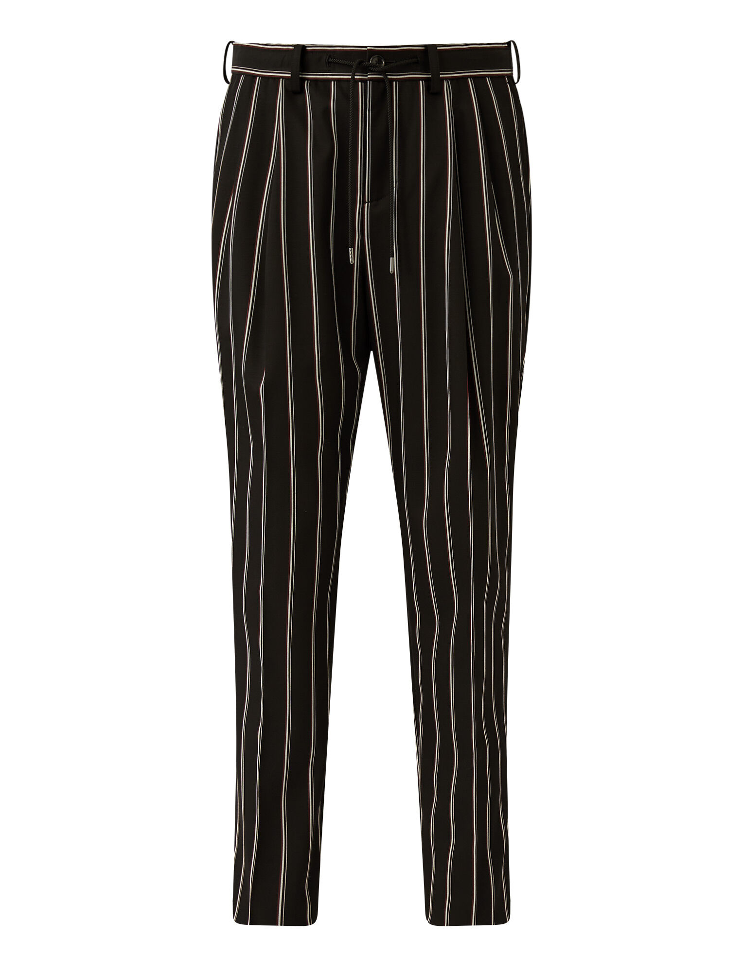 Joseph, Viscose Wool Stripe Trousers, in Black