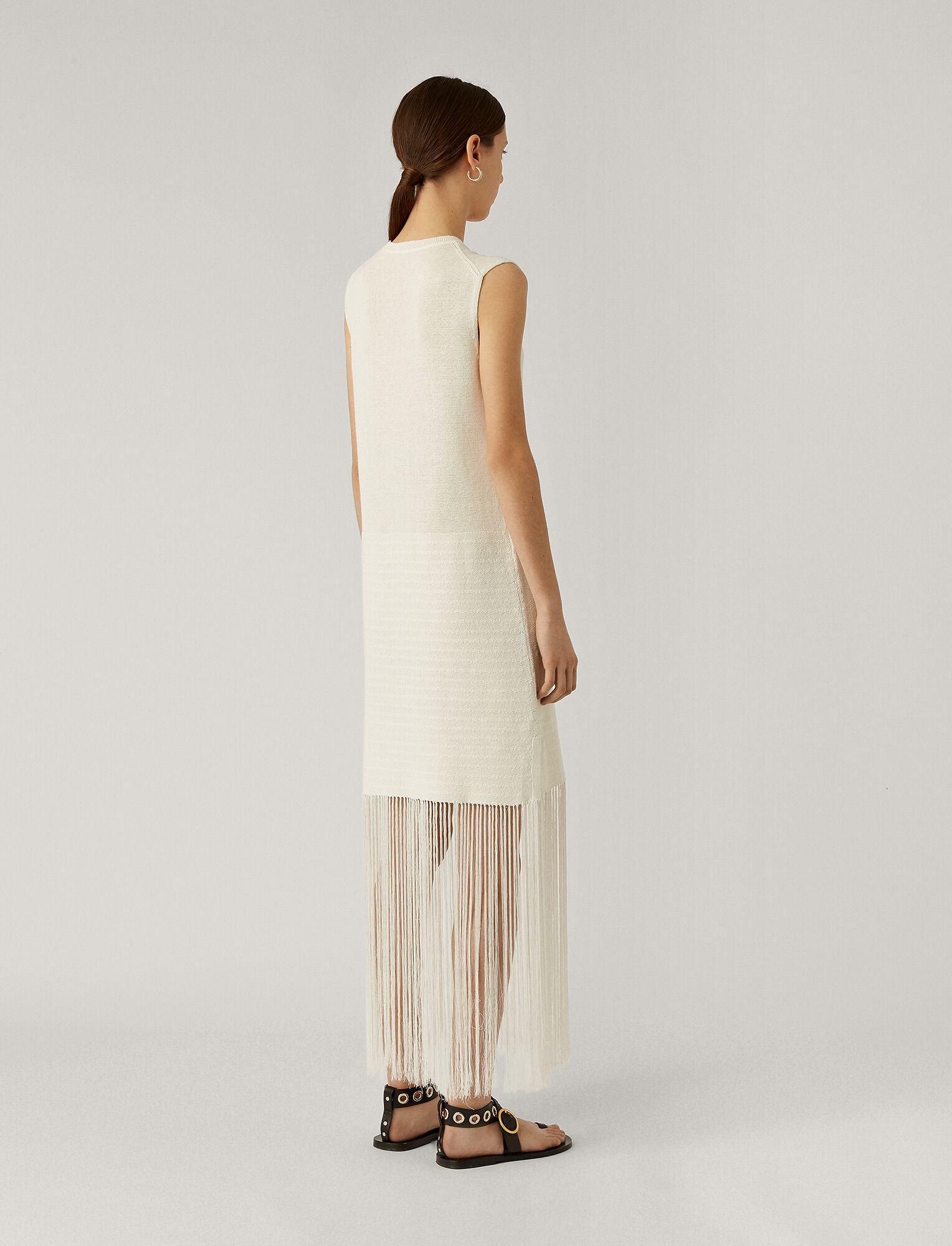 Joseph, Darya Crispy Cotton Dress, in WHITE