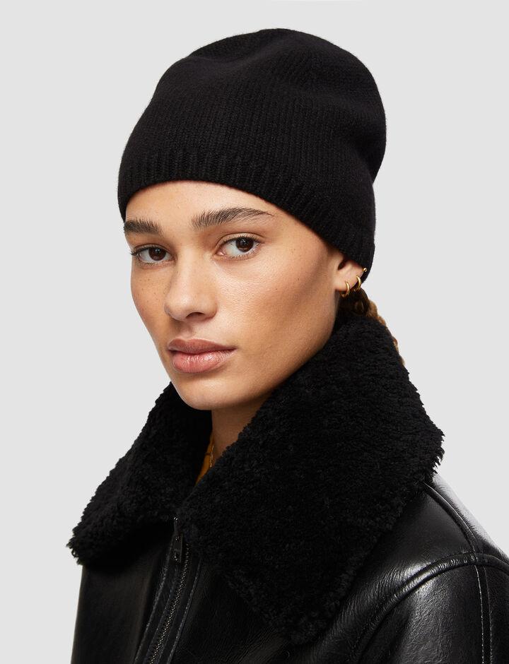 Joseph, Luxe Cashmere Hat, in Black