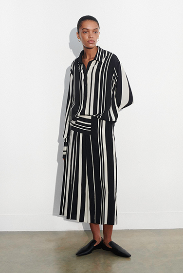 Silk Stripes Swanson Skirt