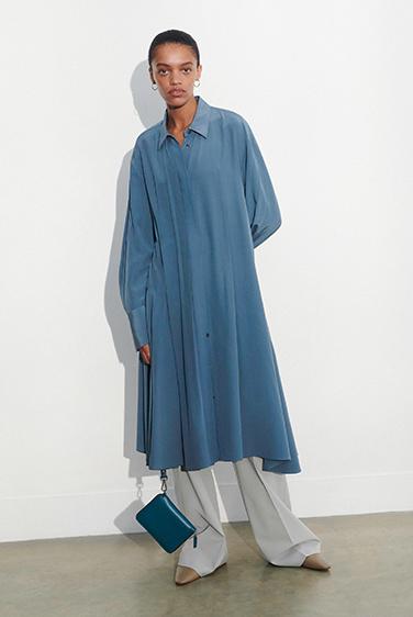 New Crepe de Chine Despente Dress