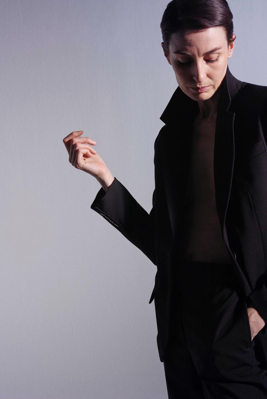 Model wearing the Jackie Tailoring Wool Jacket