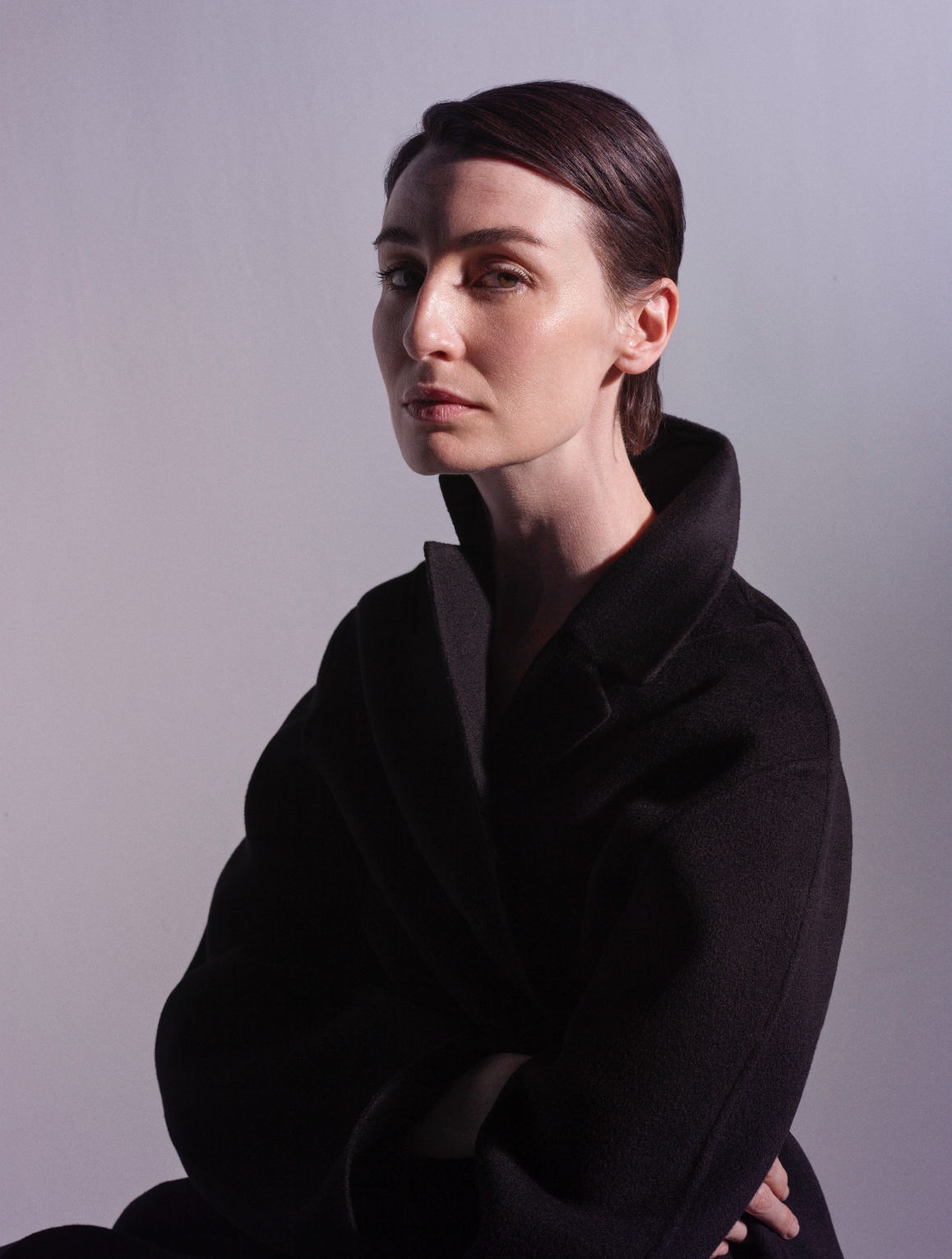 Model wearing the Caia Double Face Cashmere Coat