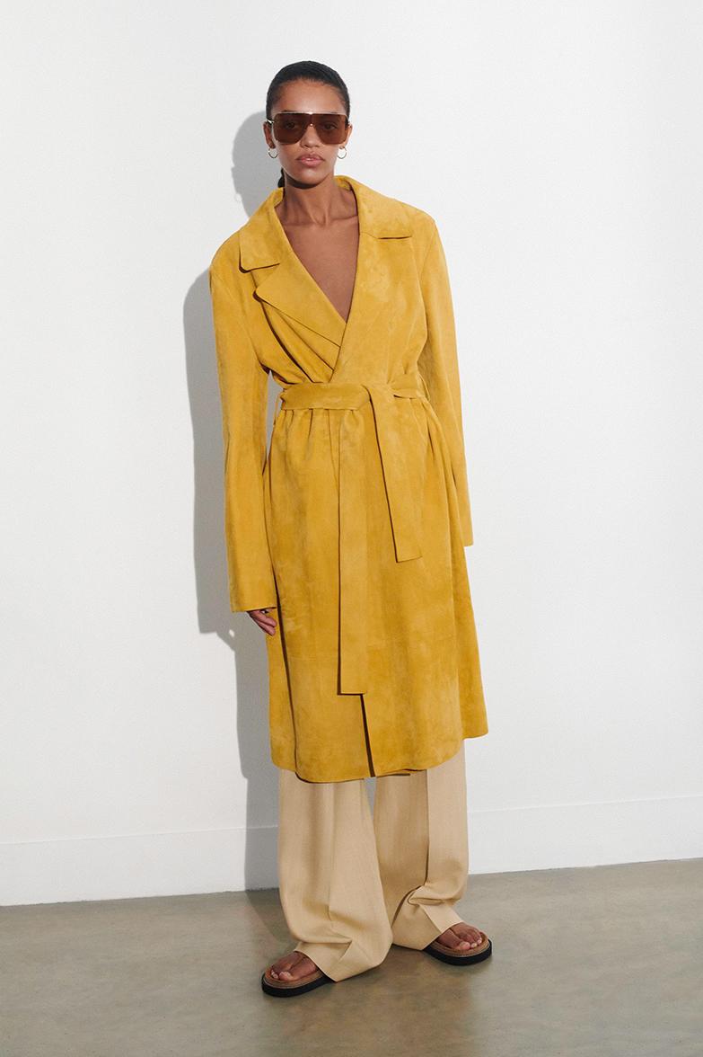 Suede June Coat